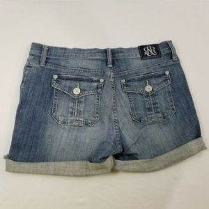 Rock & Republic Womens Sz 10 Stinger Denim Shorts